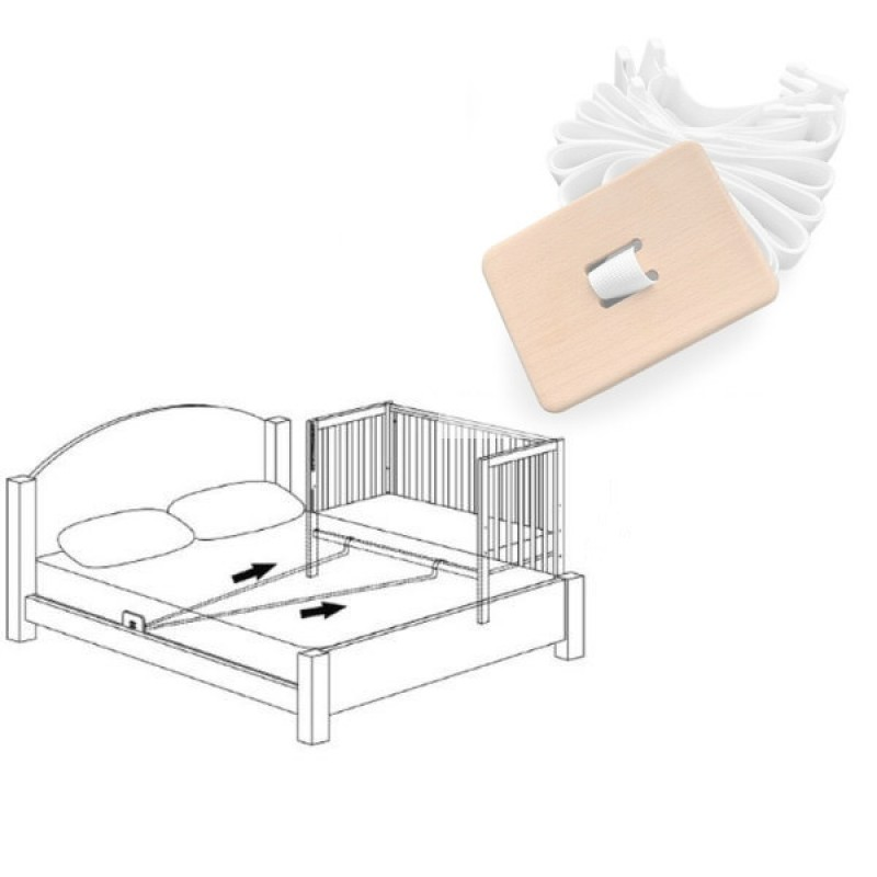 Система крепления приставной кроватки Верес
