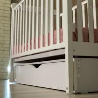 Кроватка Верес ЛД12 маятник с ящиком (цвет: слоновая кость) ЕС