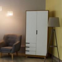 Шкаф Верес Манхэттен 850 с ящиками (цвет: бело-буковый)
