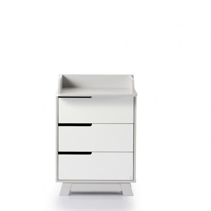 Комод 600 Манхеттен (цвет: бело-серый)