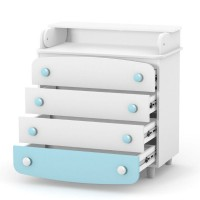 Комод-пеленатор Верес 900 ДСП (цвет: бело-голубой/тиффани)