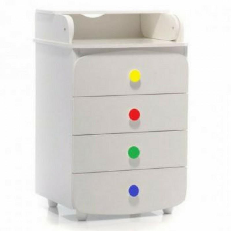Верес Пеленатор 600 ДСП (цвет: белый-радуга)
