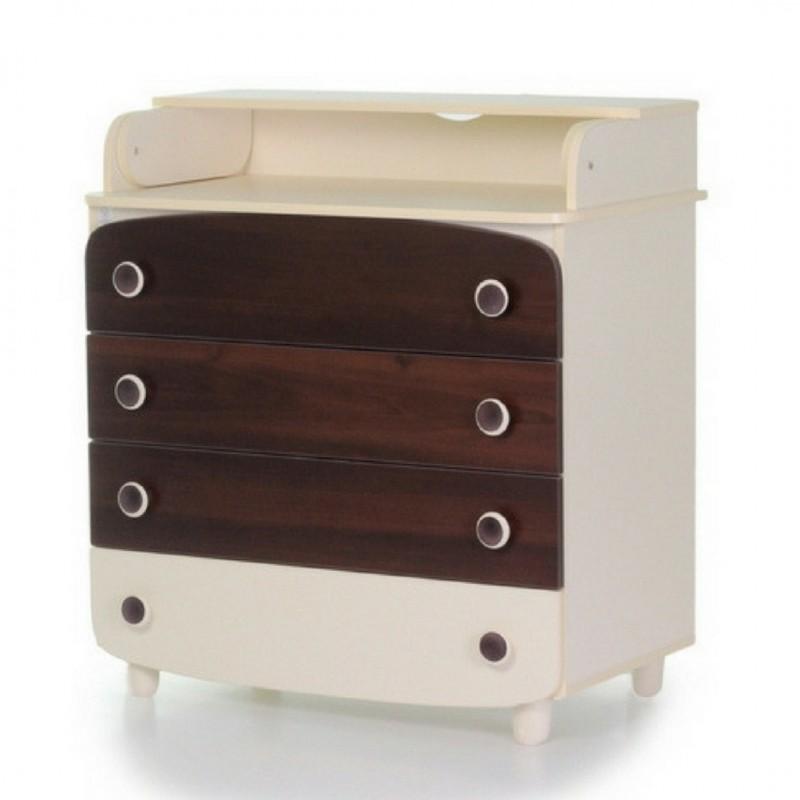 Верес Пеленатор 900 ДСП  (цвет:слоновая кость-орех)