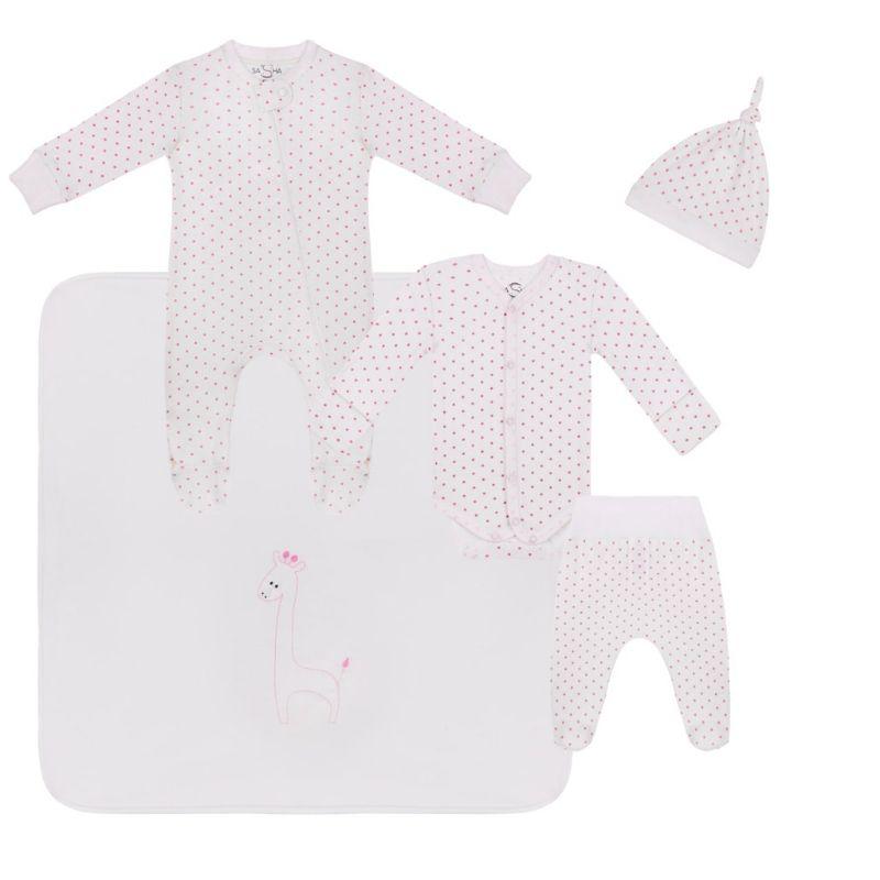 """Комплект ТМ Sasha """"A-babyborn"""" Розовый горох"""