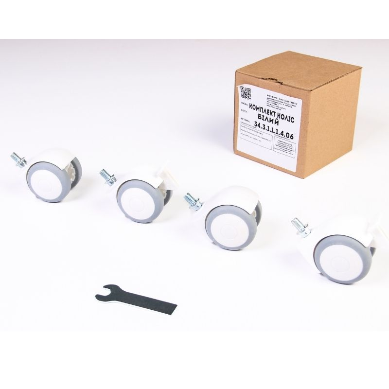 Комплект колес для кроваток Верес (цвет: белый)