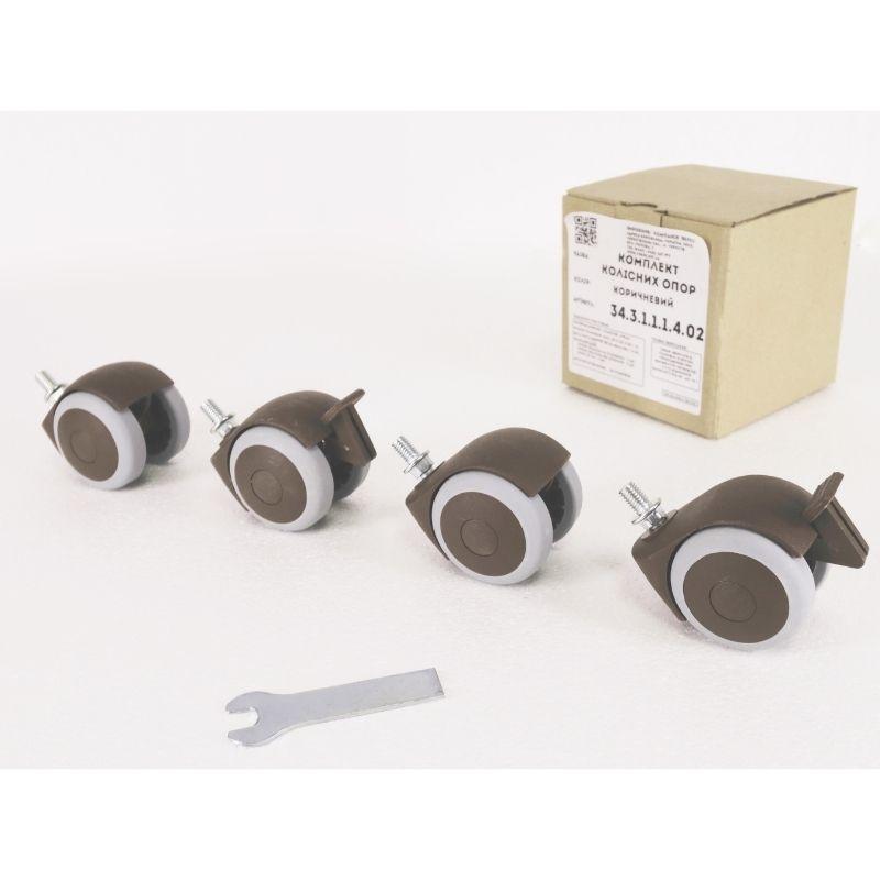 Комплект колес для кроваток Верес (цвет: коричневый)