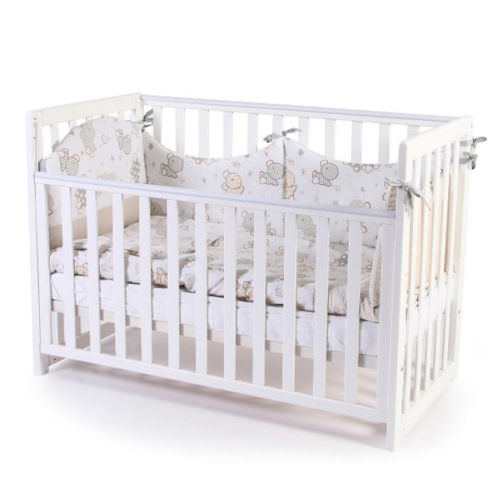 Кроватка Верес Соня ЛД13 без ящика (цвет: белый) съемные спицы