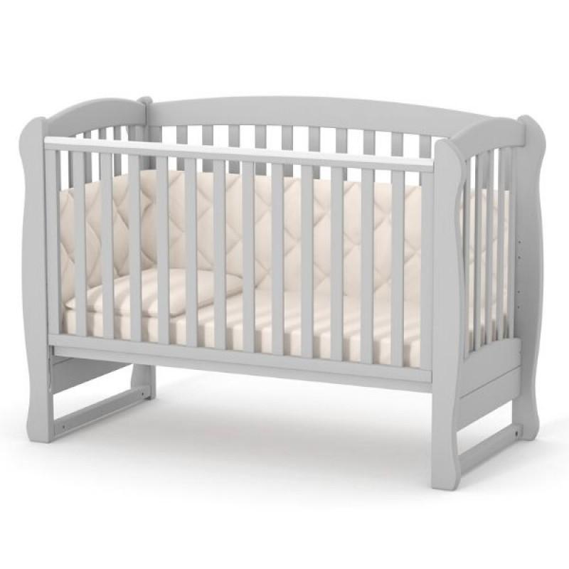 Кроватка Верес ЛД16 без ящика (цвет: серый) ЕС