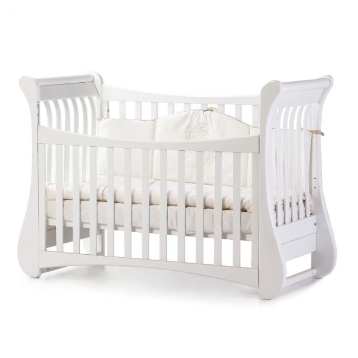 Кроватка Верес Соня ЛД20 без ящика (цвет: белый)