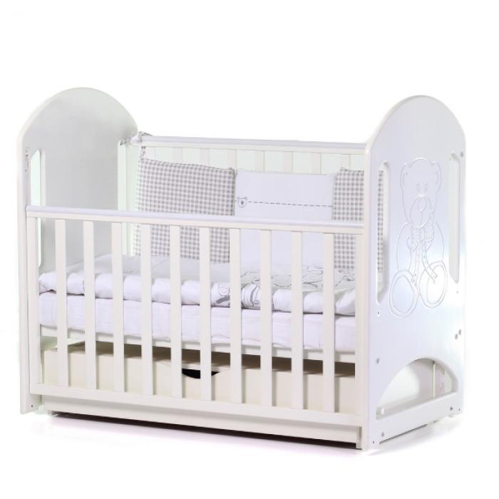 Кроватка Верес Соня ЛД8 маятник с ящиком (цвет: белый)