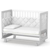 Кроватка Верес Манхэттен (цвет: бело-серый)