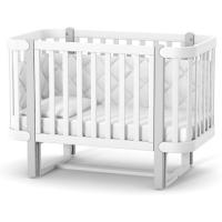 Кроватка Верес Монако (цвет: бело-серый)