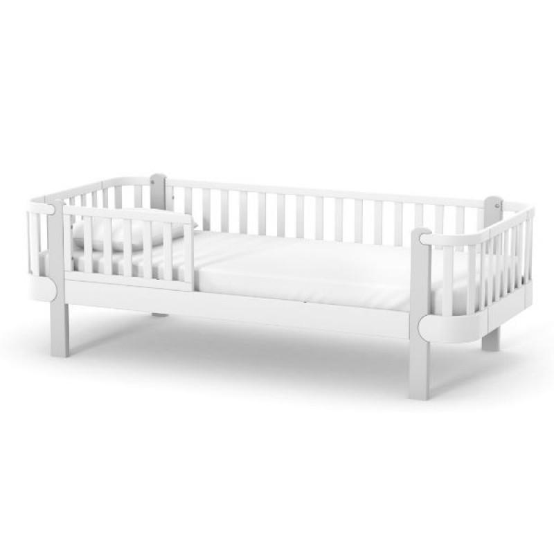 Кровать подростковая Верес Монако (цвет: бело-серый) 190*80