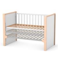 Кроватка Верес Ницца (цвет: бело-буковый)