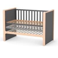 Кроватка Верес Ницца маятник с ящиком (цвет: темно-серый)