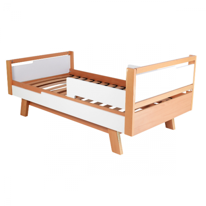 Кровать подростковая Верес Манхэттен Teenage (цвет: бело-буковый) 190*80