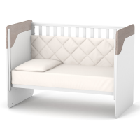 Кроватка Верес Сидней маятник с ящиком (цвет: капучино-белый)