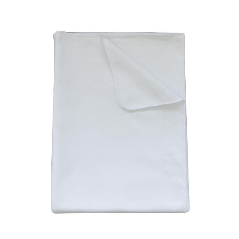 Пеленка трикотажная (95*100 футер з начесом), белая