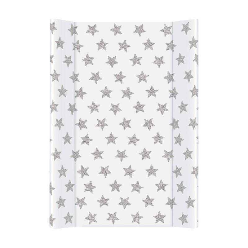 Пеленальная доска Ceba Baby 50*70 Day & Night (Stars/звездочки, белый / серый)