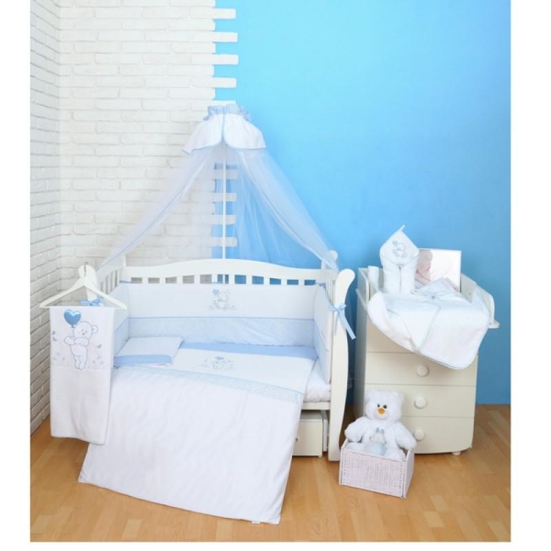 Постельный комплект Верес Sweet Bear Blue (голубой) (7 единиц) (120*60 см)