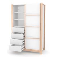 Шкаф Верес Ницца 1200 (цвет: бело-буковый)