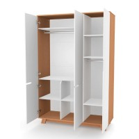 Шкаф Верес Манхэттен 1200 (цвет: бело-буковый)