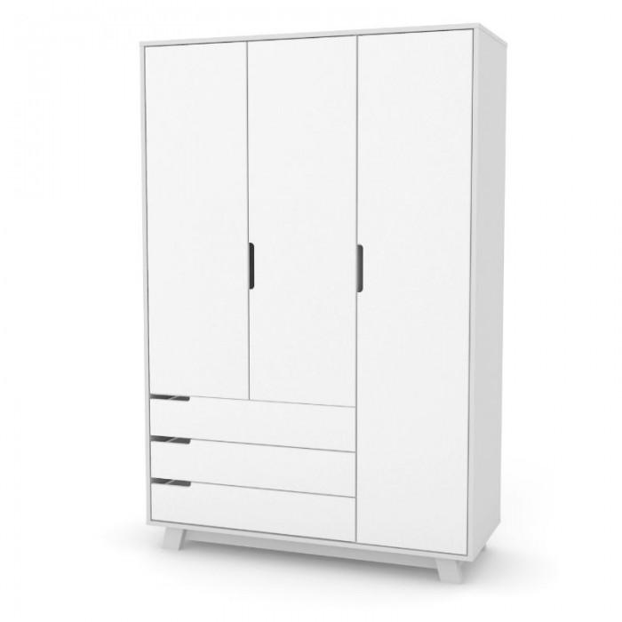 Шкаф Верес Манхэттен 1200 с ящиками (цвет: бело-серый)