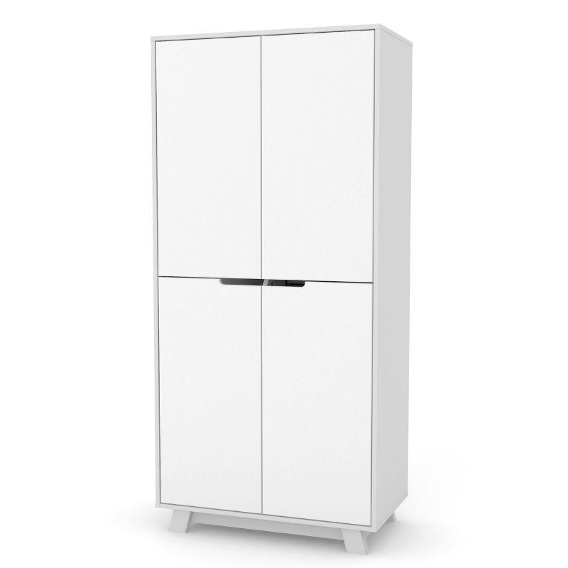 Шкаф Верес Манхэттен 850 (цвет: бело-серый)