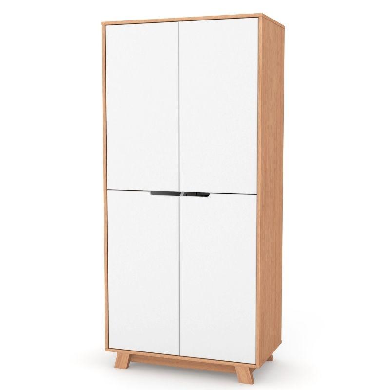 Шкаф Верес Манхэттен 850 (цвет: бело-буковый)