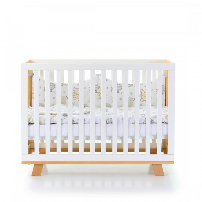 Кроватка Верес Манхеттен (цвет: бело-буковый)